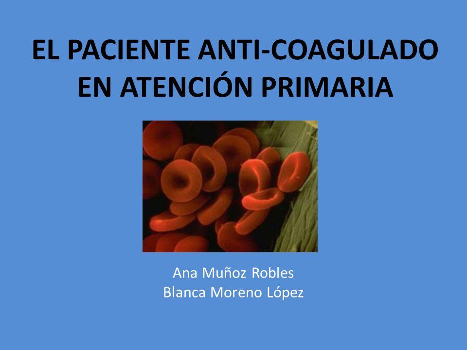 EL PACIENTE ANTI-COAGULADO EN ATENCIÓN PRIMARIA
