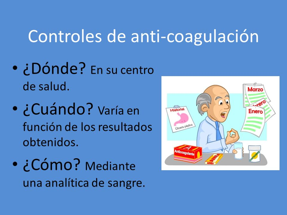 Controles de anti-coagulación
