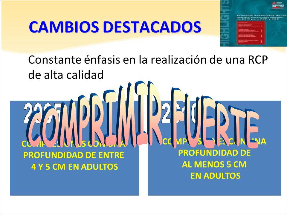 CAMBIOS DESTACADOS COMPRIMIR FUERTE 2005 2010