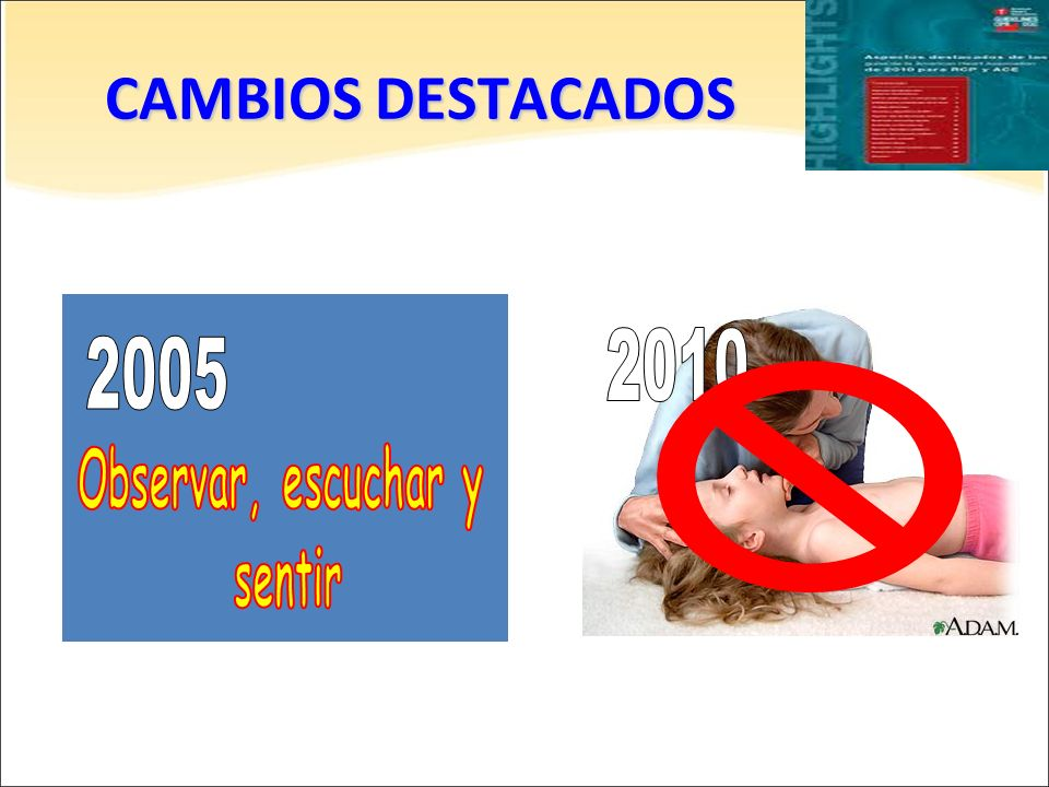 CAMBIOS DESTACADOS Observar, escuchar y sentir 2010 2005