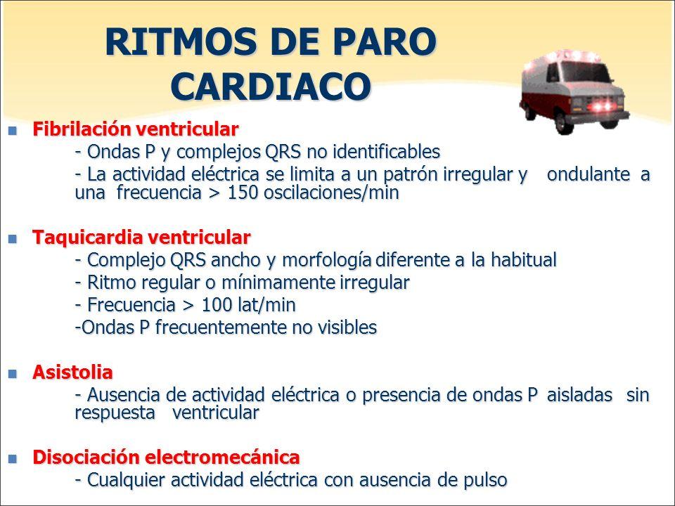 RITMOS DE PARO CARDIACO