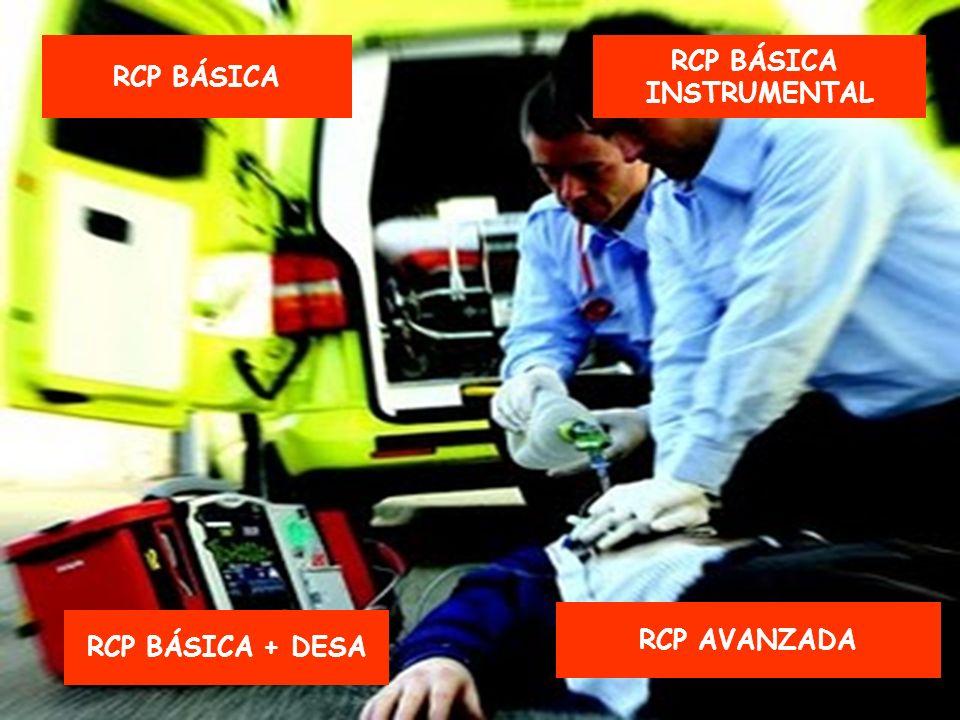RCP BÁSICA RCP BÁSICA INSTRUMENTAL RCP AVANZADA RCP BÁSICA + DESA