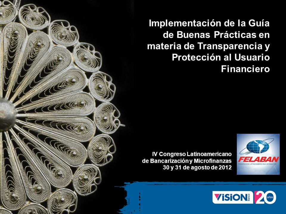 Implementación de la Guía de Buenas Prácticas en materia de Transparencia y Protección al Usuario Financiero