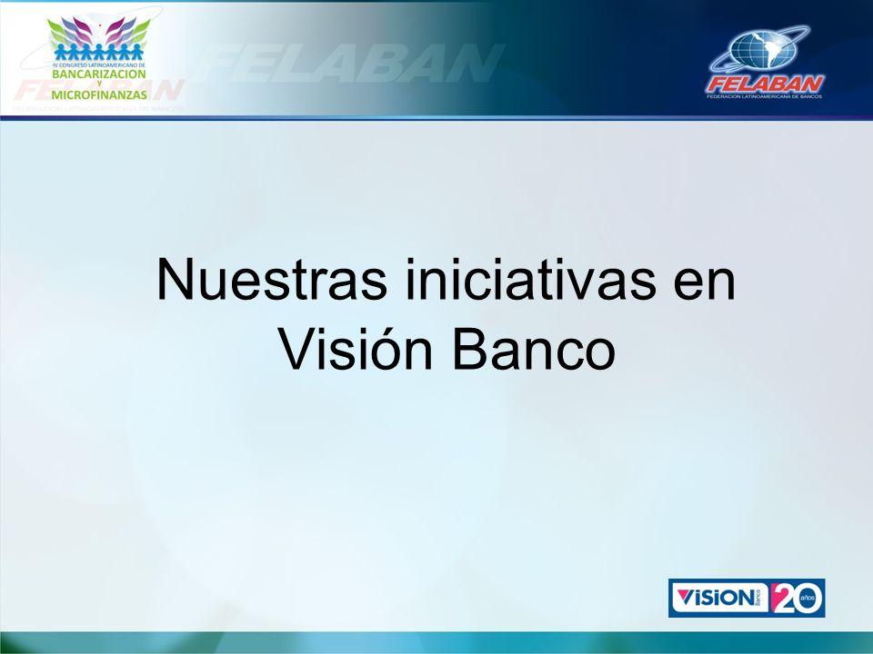 Nuestras iniciativas en Visión Banco
