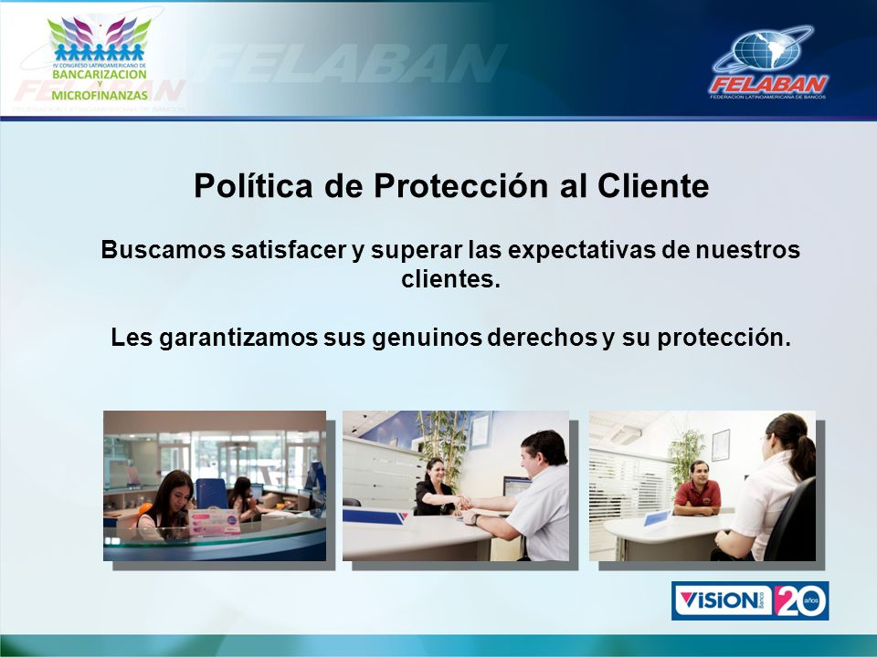 Política de Protección al Cliente