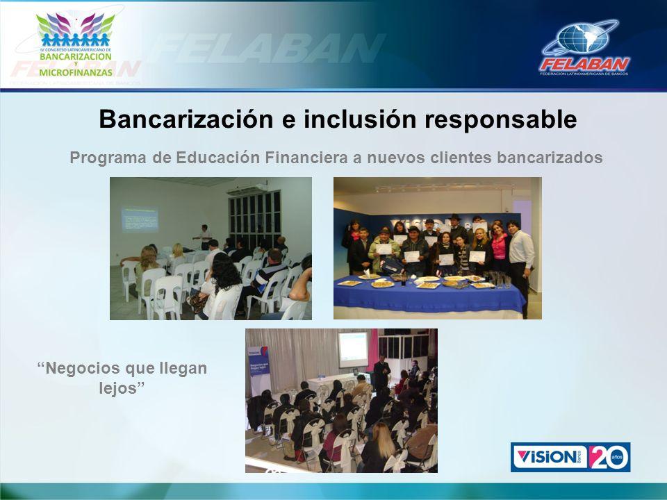 Bancarización e inclusión responsable