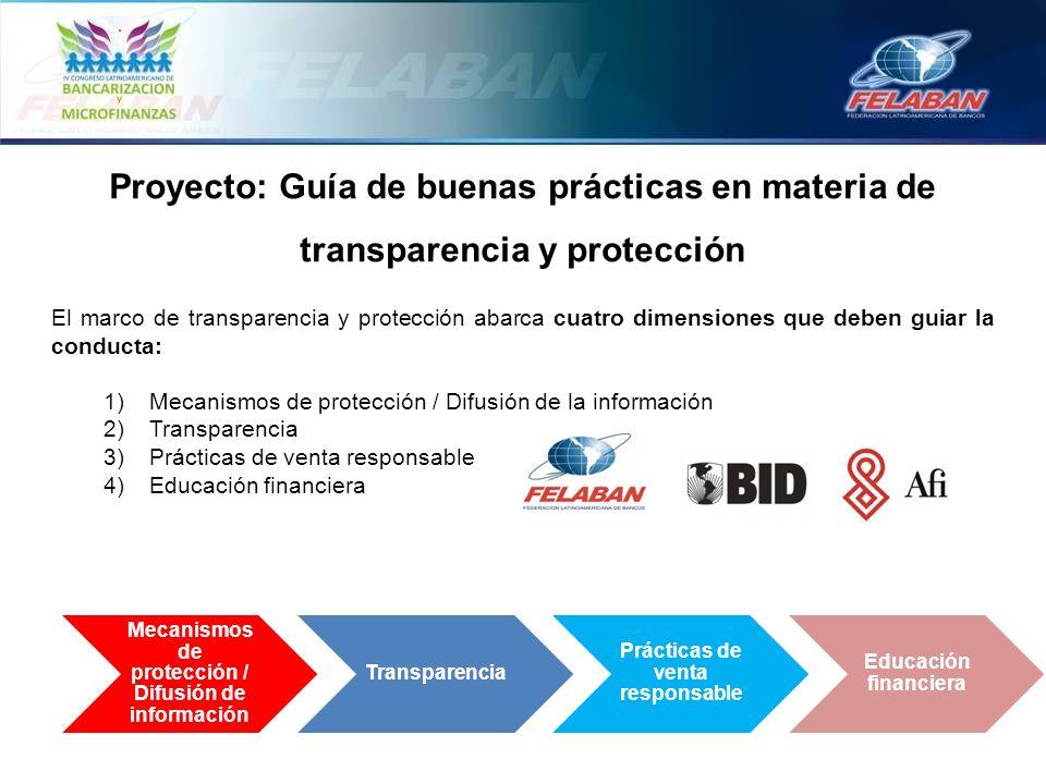 Proyecto: Guía de buenas prácticas en materia de transparencia y protección