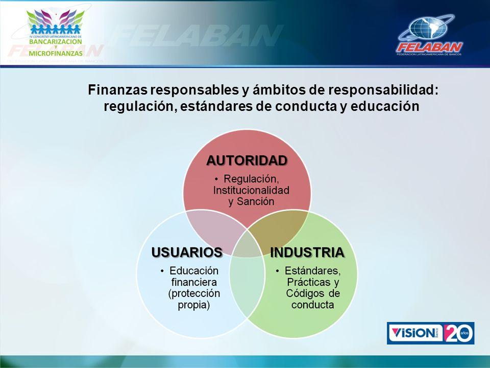 Finanzas responsables y ámbitos de responsabilidad: