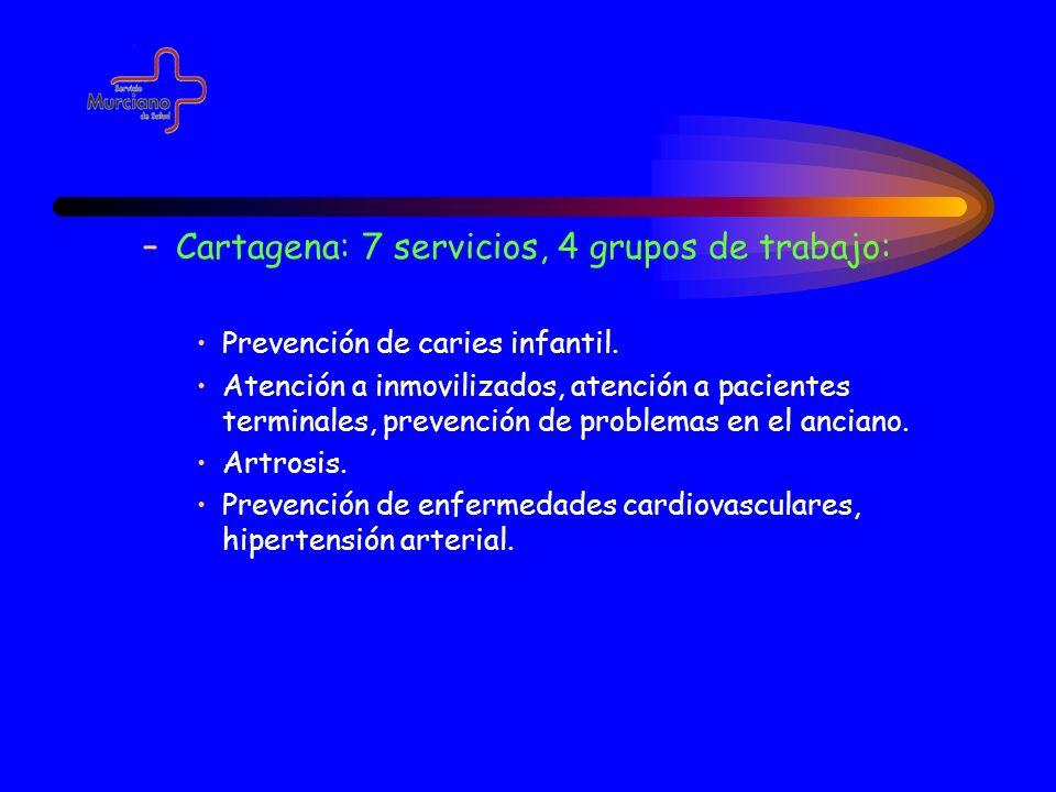 Cartagena: 7 servicios, 4 grupos de trabajo: