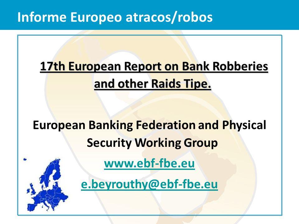 Informe Europeo atracos/robos