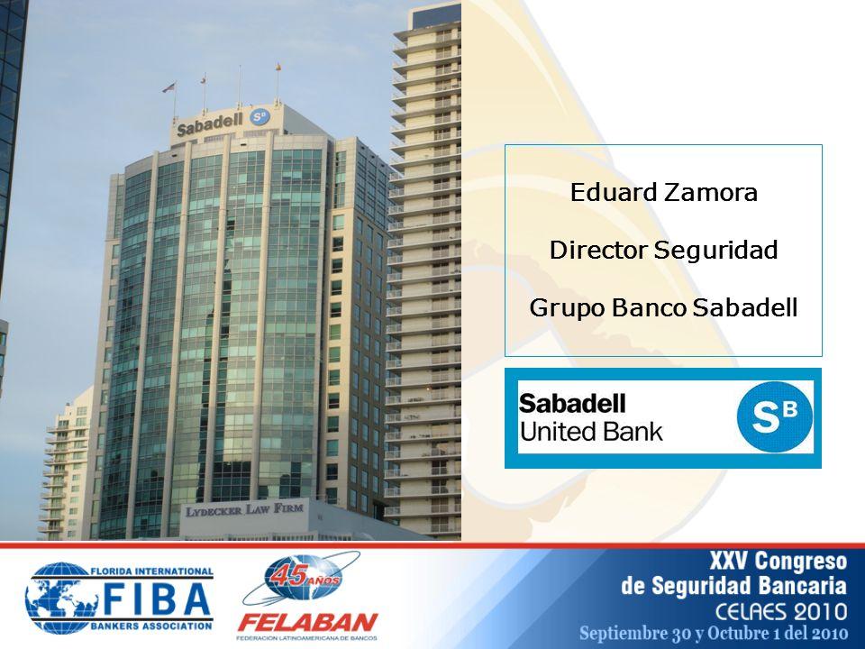 Eduard Zamora Director Seguridad Grupo Banco Sabadell