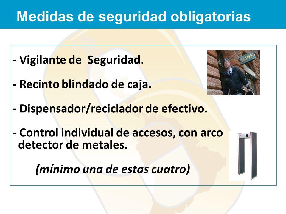 Medidas de seguridad obligatorias