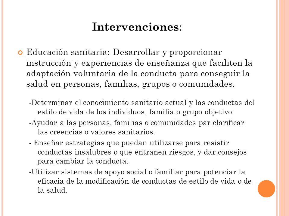Intervenciones: