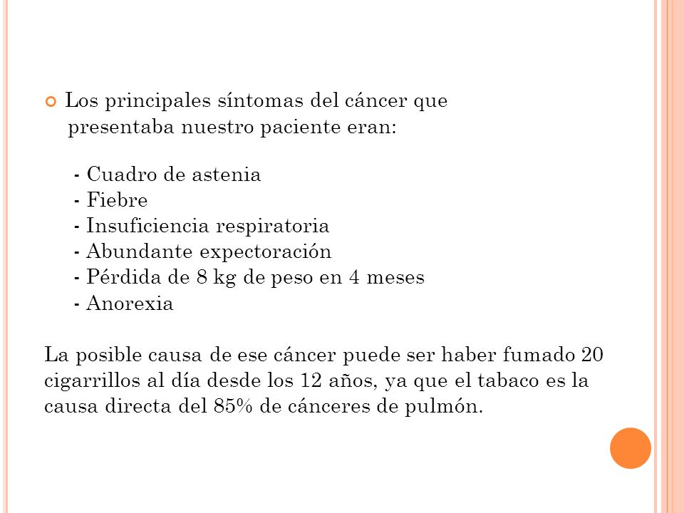 Los principales síntomas del cáncer que