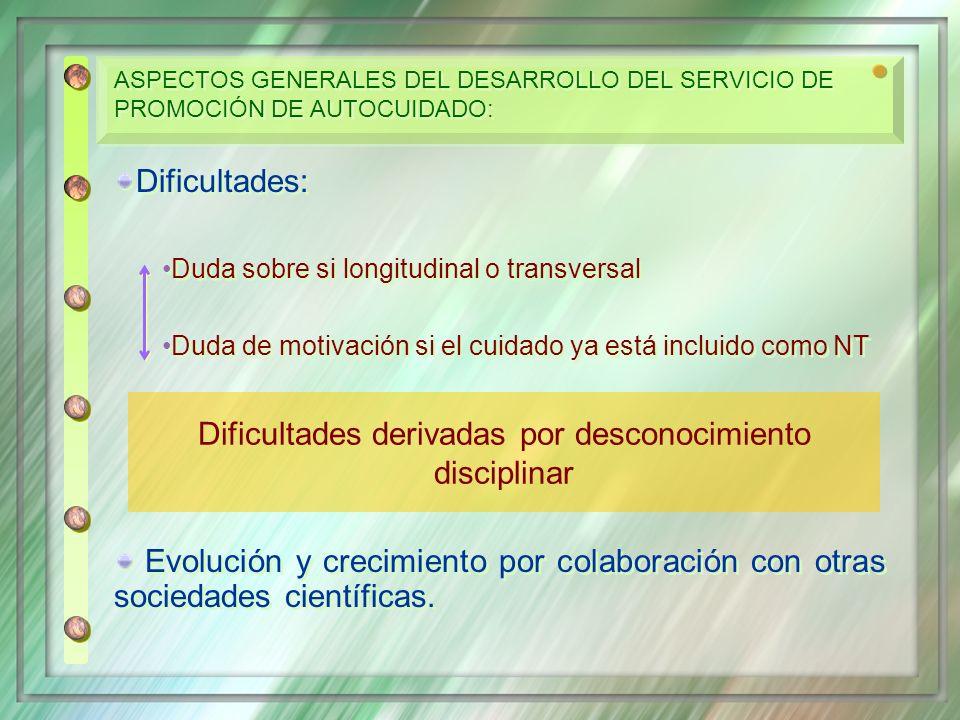 Dificultades derivadas por desconocimiento disciplinar