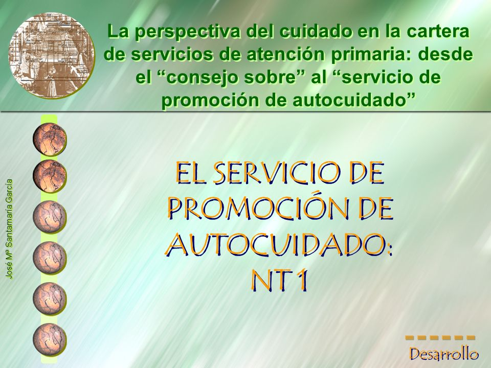 EL SERVICIO DE PROMOCIÓN DE AUTOCUIDADO: NT 1