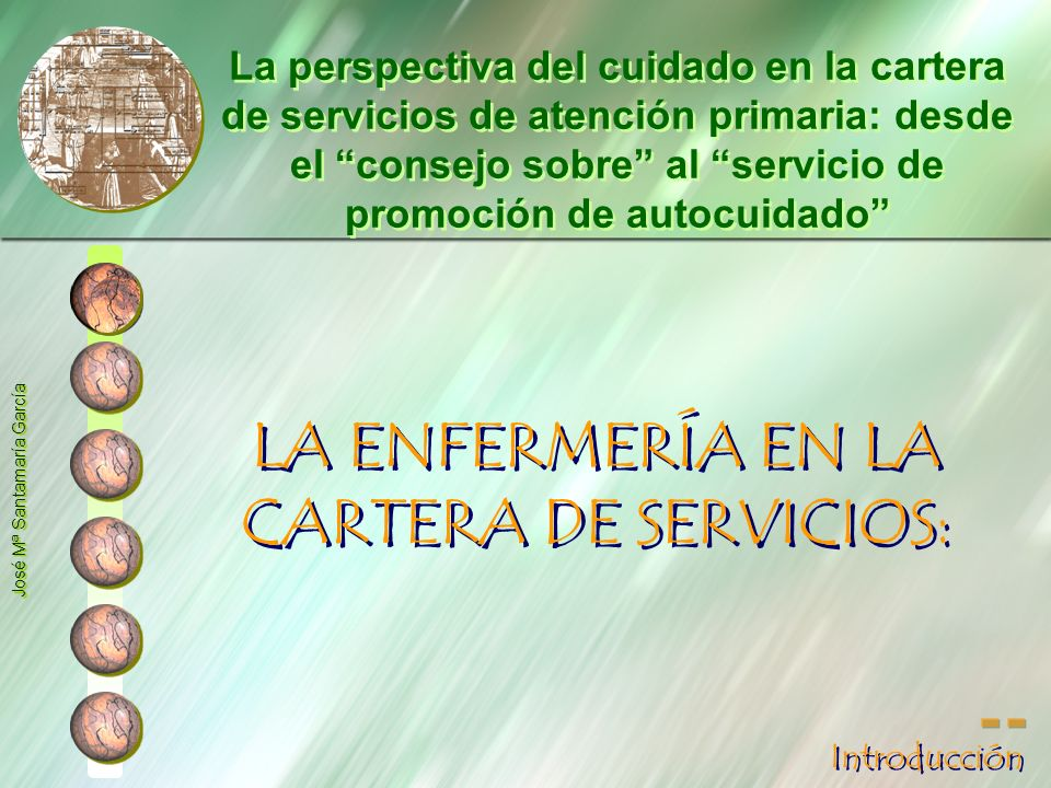 LA ENFERMERÍA EN LA CARTERA DE SERVICIOS: