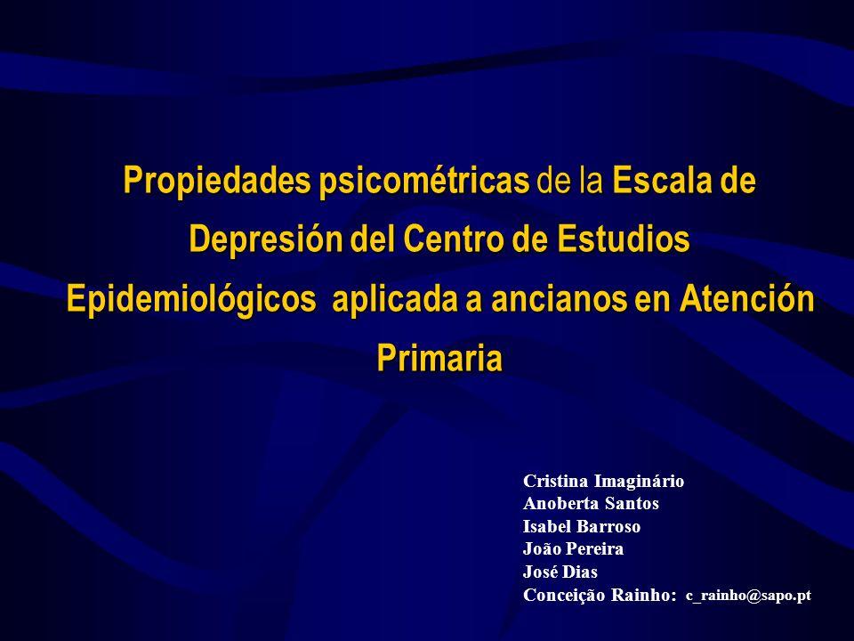 24-03-2017 Propiedades psicométricas de la Escala de Depresión del Centro de Estudios Epidemiológicos aplicada a ancianos en Atención Primaria.