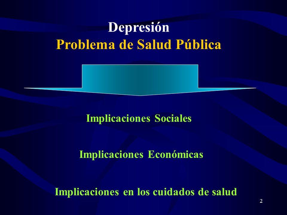 Depresión Problema de Salud Pública