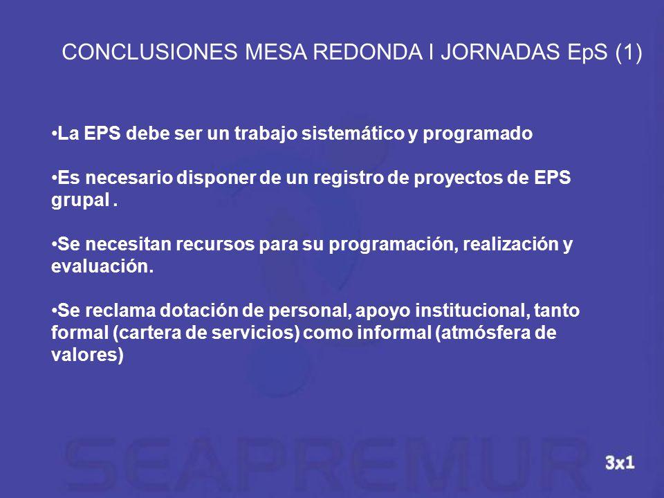 CONCLUSIONES MESA REDONDA I JORNADAS EpS (1)