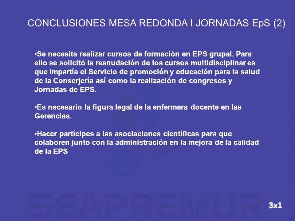 CONCLUSIONES MESA REDONDA I JORNADAS EpS (2)