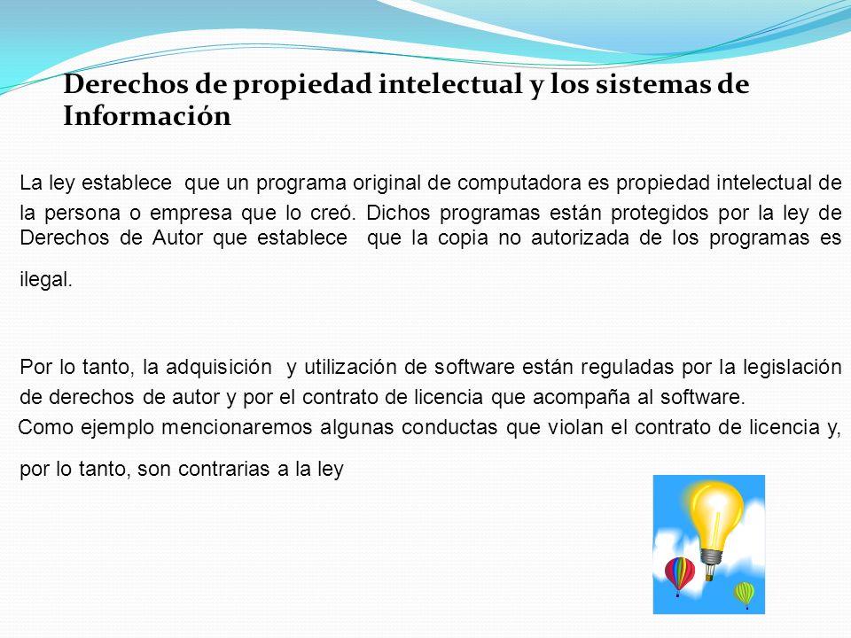 Derechos de propiedad intelectual y los sistemas de Información