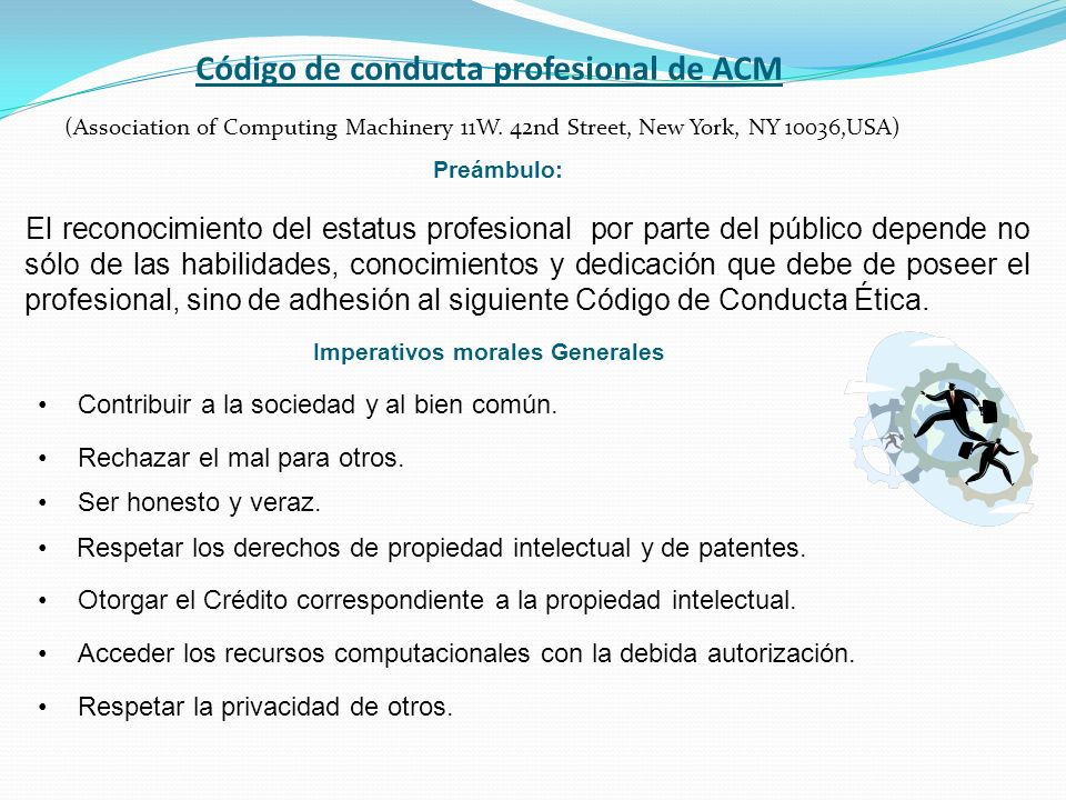 Código de conducta profesional de ACM