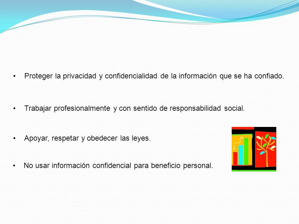 Proteger la privacidad y confidencialidad de la información que se ha confiado.