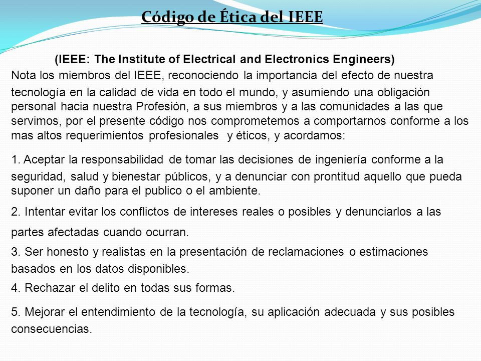 (IEEE: The Institute of Electrical and Electronics Engineers)