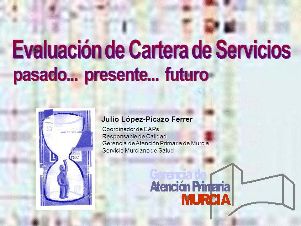 Evaluación de Cartera de Servicios pasado... presente... futuro