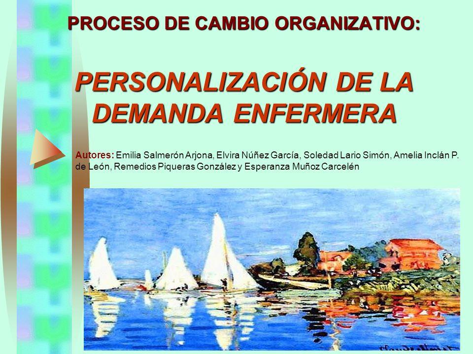 PROCESO DE CAMBIO ORGANIZATIVO: PERSONALIZACIÓN DE LA DEMANDA ENFERMERA