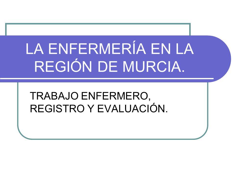 LA ENFERMERÍA EN LA REGIÓN DE MURCIA.