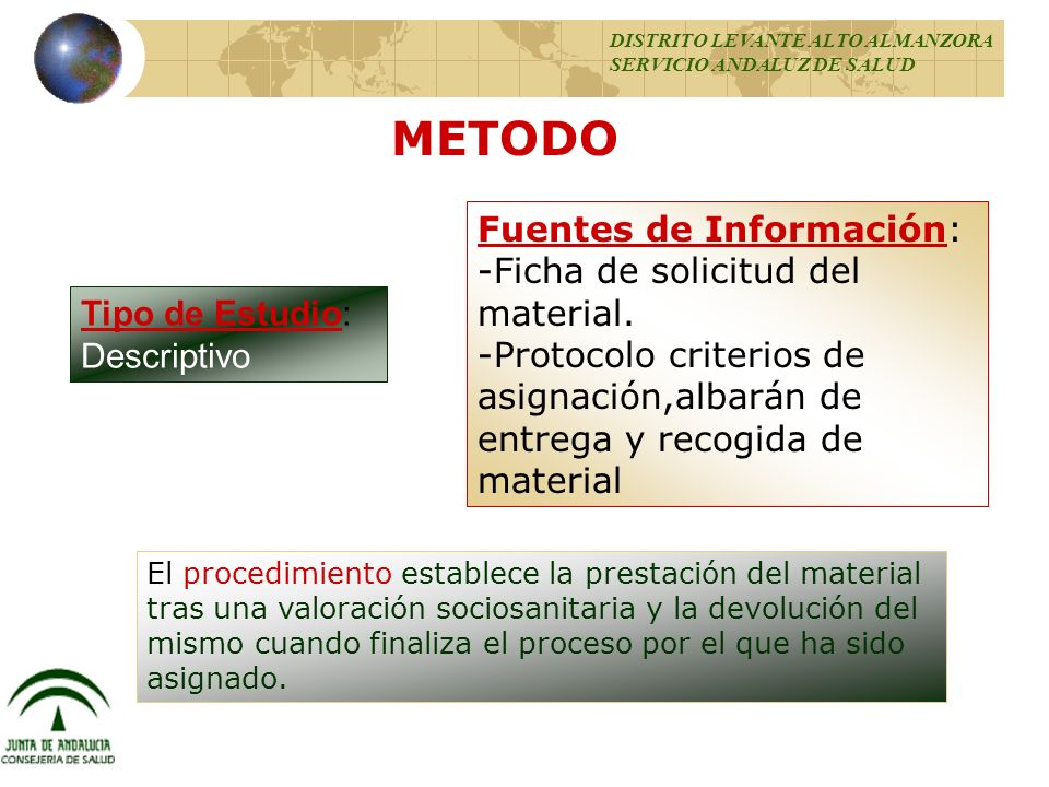 METODO Fuentes de Información: -Ficha de solicitud del material.