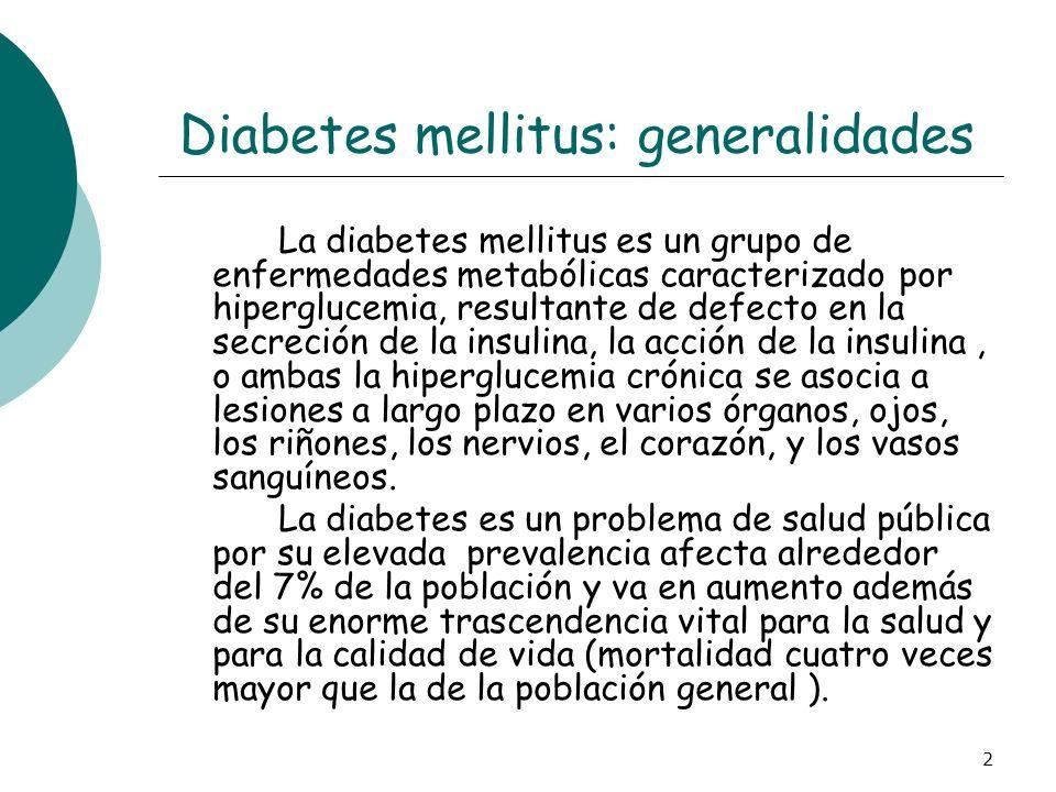 Diabetes mellitus: generalidades