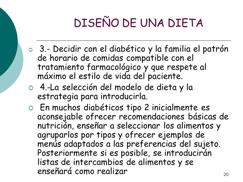DISEÑO DE UNA DIETA