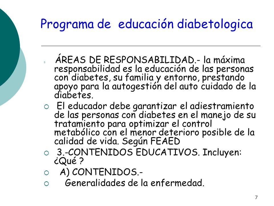Programa de educación diabetologica