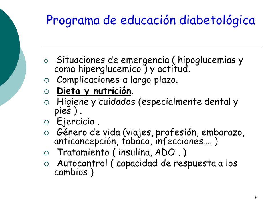 Programa de educación diabetológica