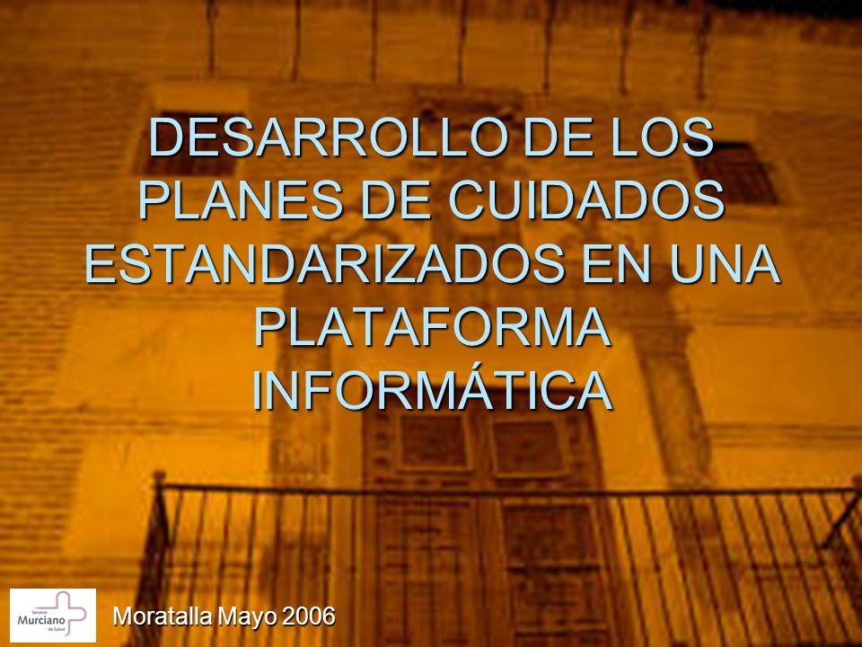 DESARROLLO DE LOS PLANES DE CUIDADOS ESTANDARIZADOS EN UNA PLATAFORMA INFORMÁTICA