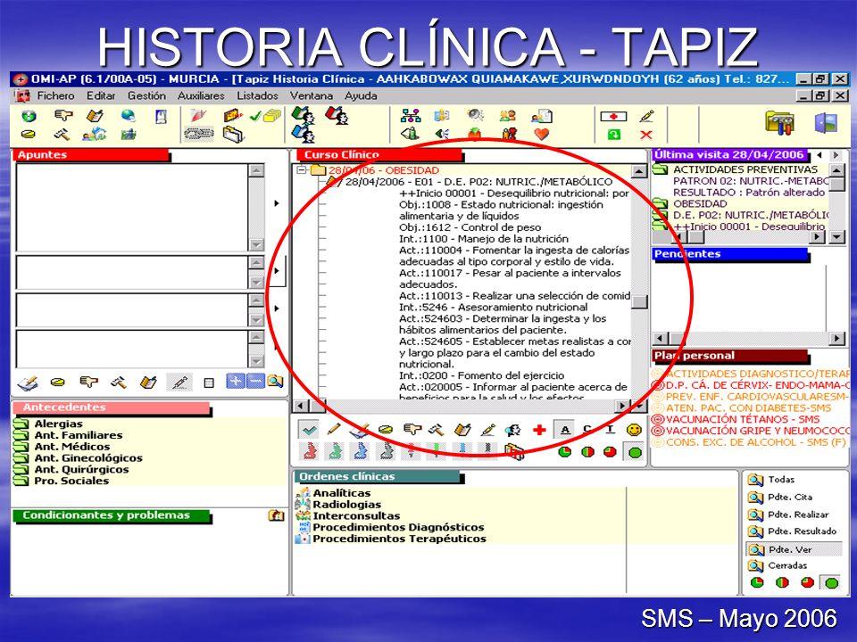 HISTORIA CLÍNICA - TAPIZ