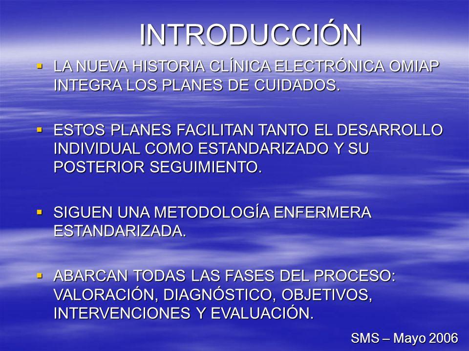 INTRODUCCIÓNLA NUEVA HISTORIA CLÍNICA ELECTRÓNICA OMIAP INTEGRA LOS PLANES DE CUIDADOS.