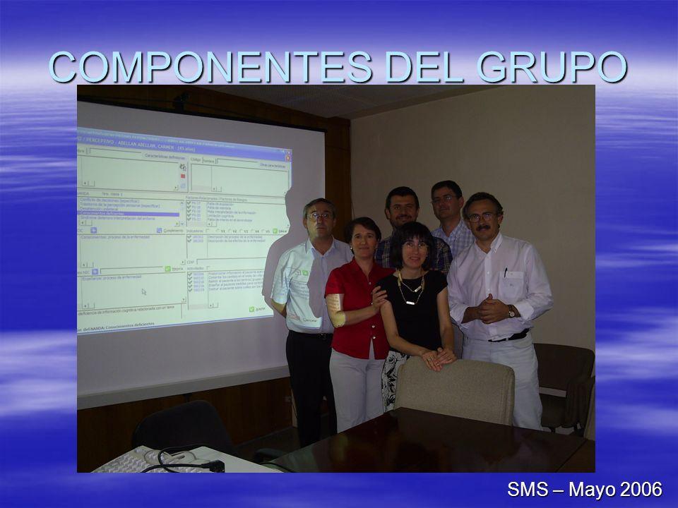 COMPONENTES DEL GRUPO SMS – Mayo 2006