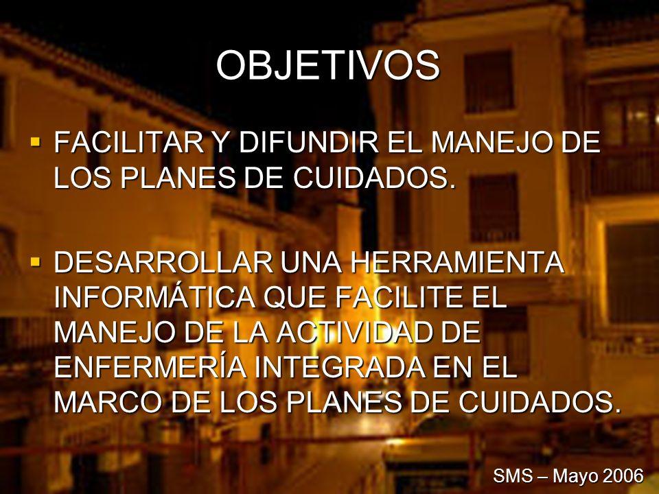 OBJETIVOS FACILITAR Y DIFUNDIR EL MANEJO DE LOS PLANES DE CUIDADOS.