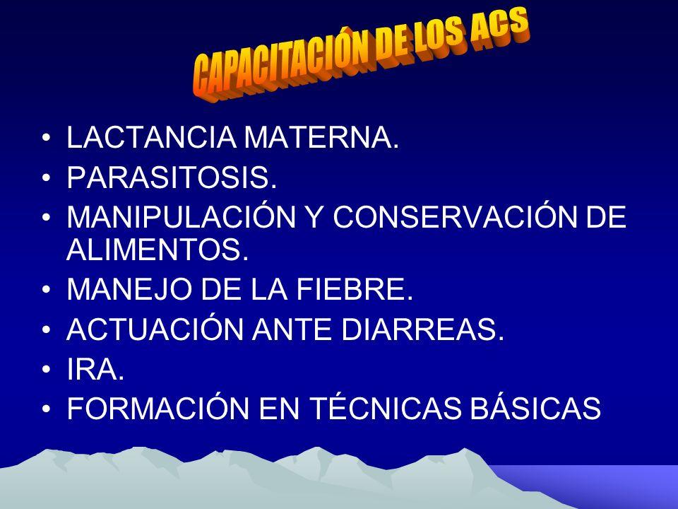 CAPACITACIÓN DE LOS ACS