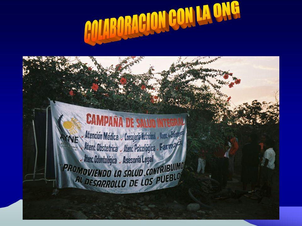 COLABORACION CON LA ONG