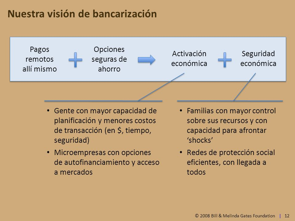 Nuestra visión de bancarización