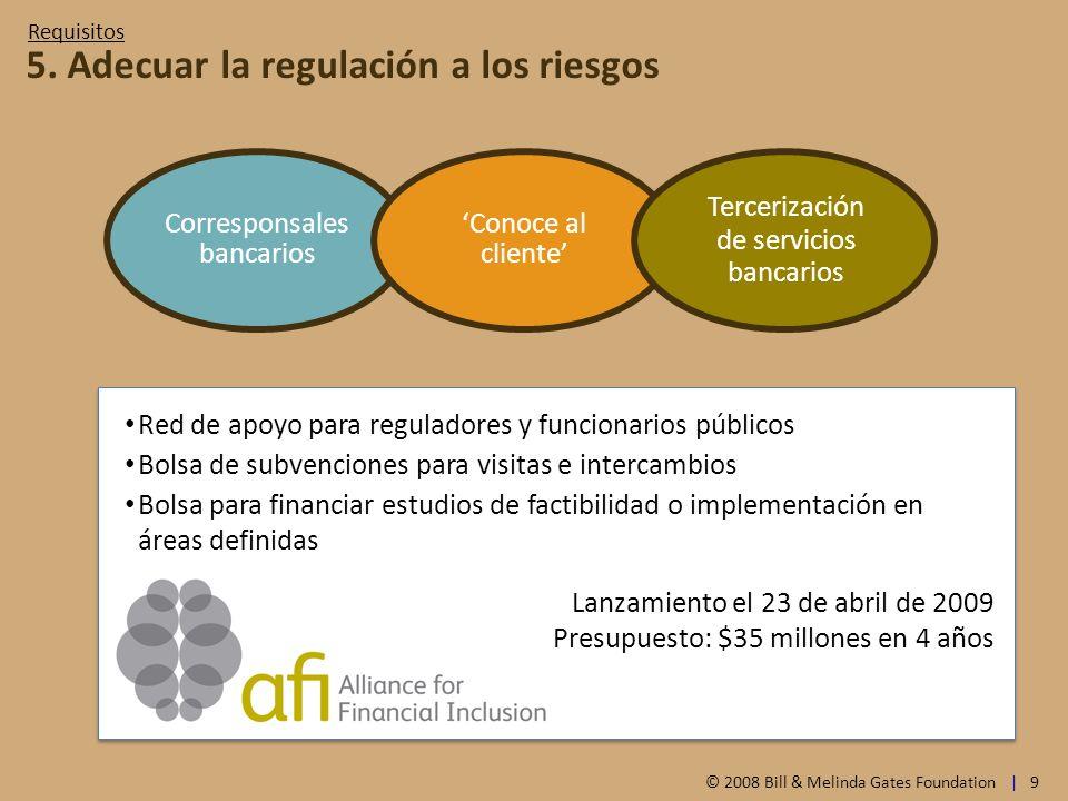 5. Adecuar la regulación a los riesgos