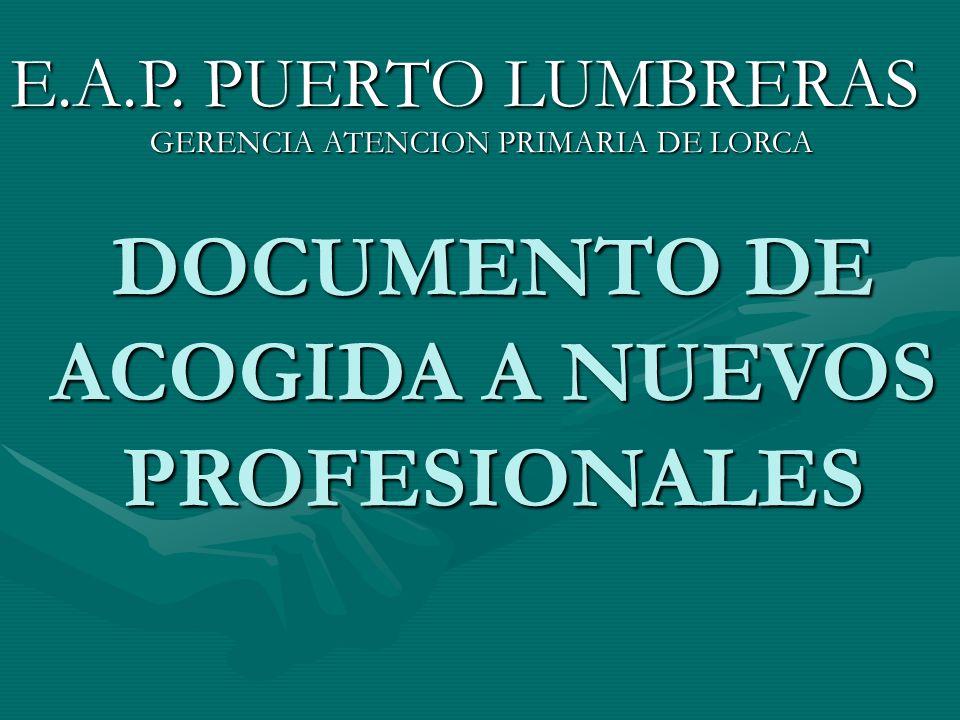 DOCUMENTO DE ACOGIDA A NUEVOS PROFESIONALES