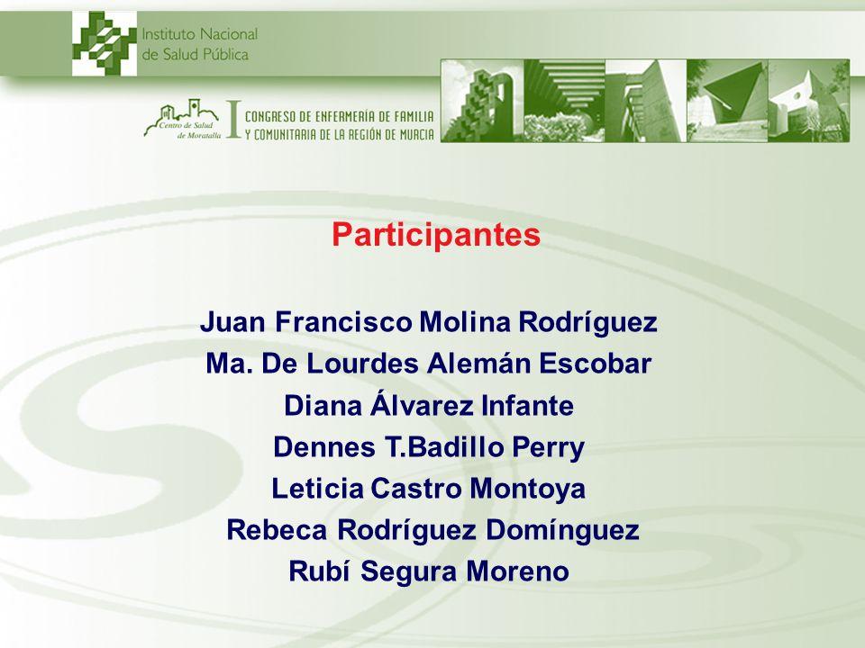 Participantes Juan Francisco Molina Rodríguez