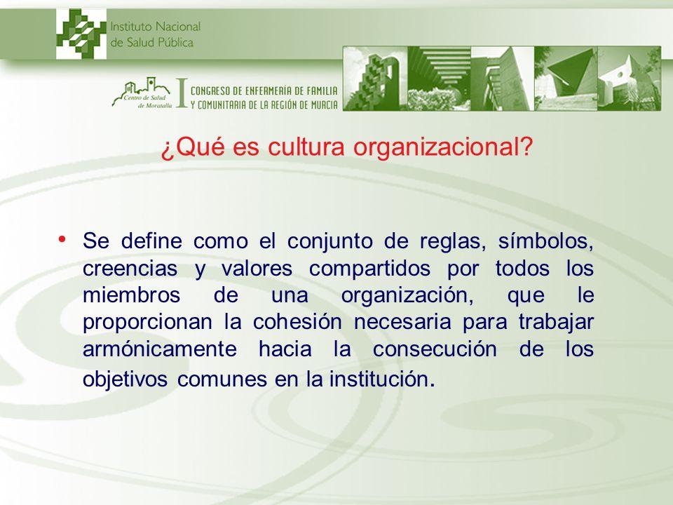 ¿Qué es cultura organizacional