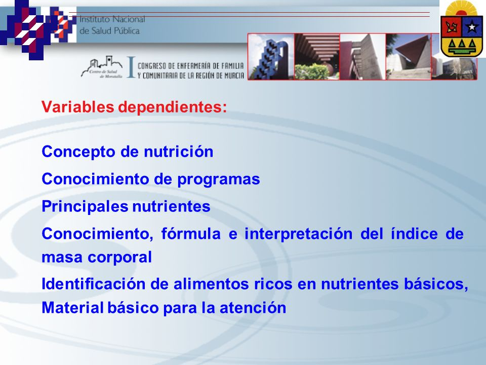 Variables dependientes: